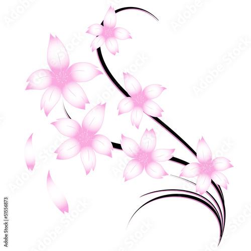 Fiori ciliegio tattoo immagini e vettoriali royalty free for Fiori stilizzati immagini