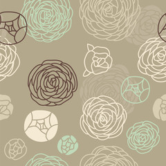 Vector beautiful seamless floral pattern