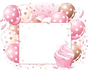 Canvas Prints Fairytale World Balloons place card