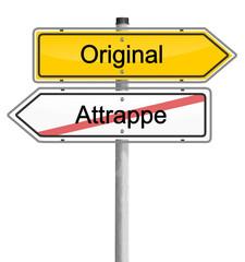 Schild Orifinal Attrappe