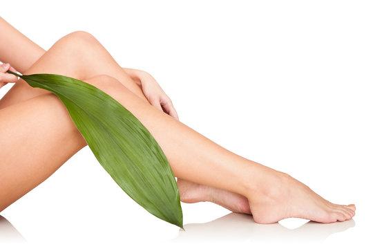 Beautiful Woman Legs In Spa