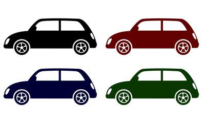 set of retro cars icons