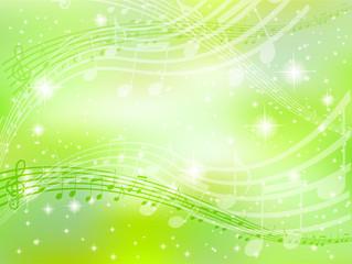 背景 音符 楽譜 緑