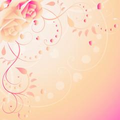 rosen, pink, rosa, liebe, herz, hintergrund, muttertag, valentin