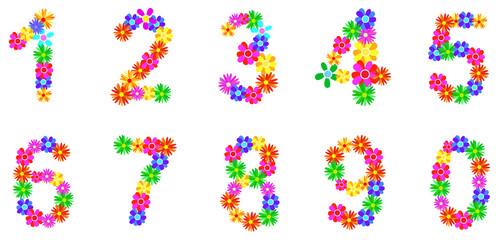 Spring Flower Numbers Set