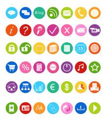 Set de iconos para la Web en colores