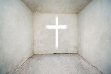 cross in the empty room