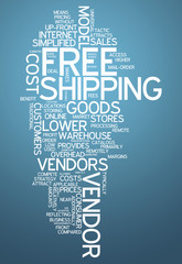 "Word Cloud ""Free Shipping"""