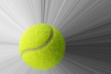 Wall Mural - Tennis ball and speed