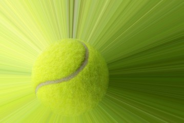 Wall Mural - Tennis ball with action
