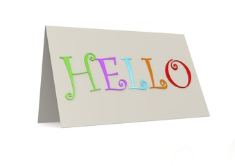 Hello with folder paper