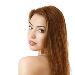 beautiful bewitching young woman