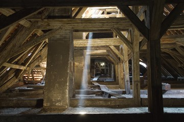 old roof, old attic