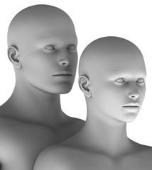 MF3 Paar Mann und Frau virtuell HiRes raytrayced