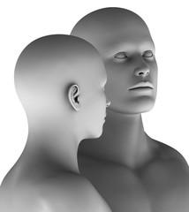 MF4 Paar Mann und Frau virtuell HiRes raytrayced