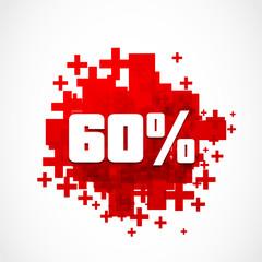 Sixty Percent discount illustration