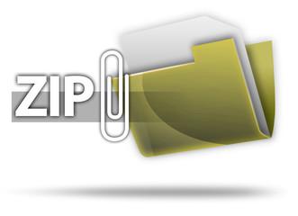 "3D Style Folder Icon ""ZIP"""