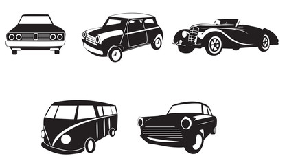 Sets of silhouette cars 2, create by vector