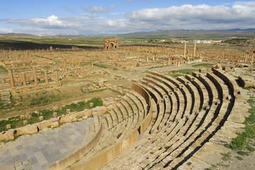 Foto op Aluminium Algerije Theatre-Site de Timgad-Algerie