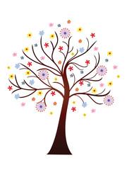 Beautiful blooming spring tree