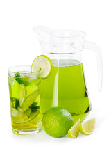 Lime juice with mint