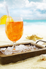Delicious iced aperol spritz