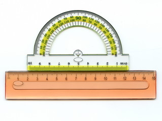 Protractor and ruler