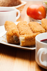 Delicious croquettes on a plate