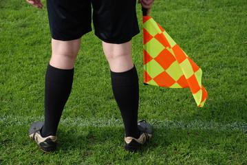 Linienrichter Schiedsrichter Schiedsrichterassistent Fußball
