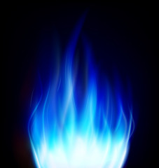 blue fire background