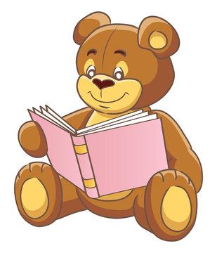 Teddy  bear and book