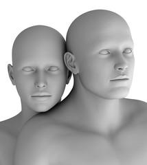 MF14 Paar Mann und Frau virtuell HiRes raytrayced