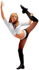Aerobic girl sport dance