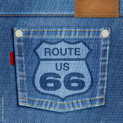 Fototapete FOND Jeans_Poche_Road 66