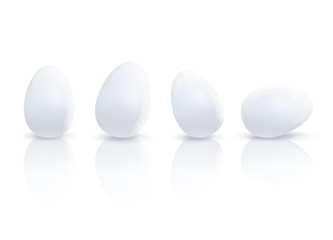 Many eggs. Vector design.