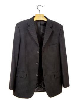 Black jacket on a hanger