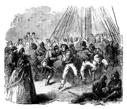 Ball on Board - Bal à Bord - 19th century
