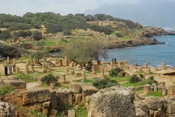 Foto op Aluminium Algerije Ruines romaines de Tipaza-Algerie
