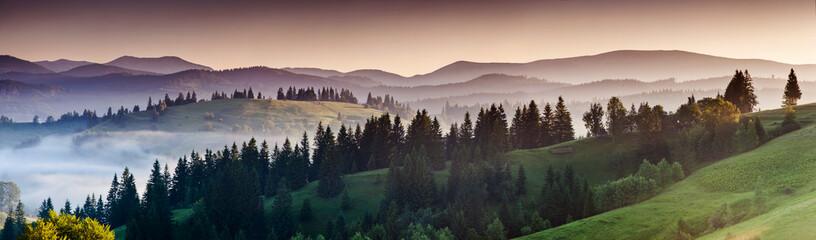 Foto op Plexiglas Zalm mountains landscape