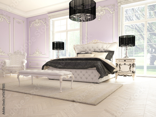 lila luxus schlafzimmer stockfotos und lizenzfreie bilder auf bild 51657883. Black Bedroom Furniture Sets. Home Design Ideas