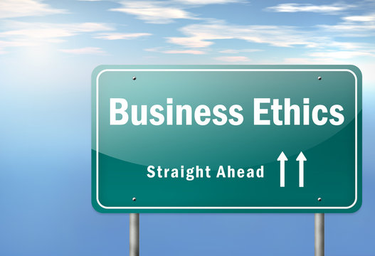 """Highway Signpost """"Business Ethics"""""""
