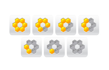 progress bar with honeycomb