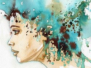 Keuken foto achterwand Schilderkunstige Inspiratie beautiful woman
