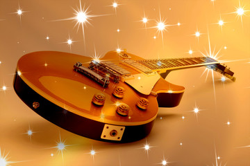 E-Gitarre vor Sternhintergrund