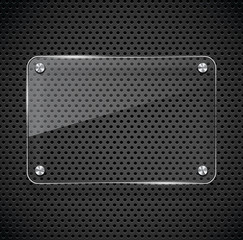 Metal texture with glass framework.