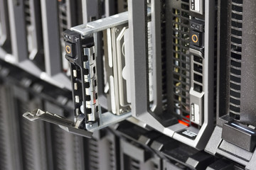 Blade Server with Hard Drive