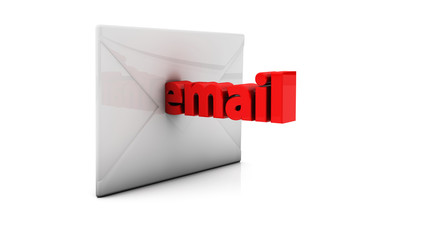3d email and envelope