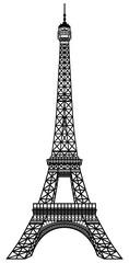Eiffel Tower Black Silhouette