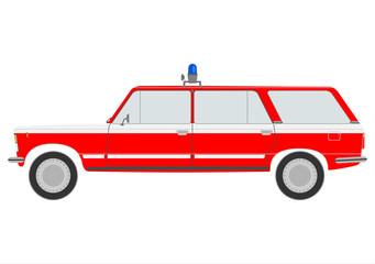 Retro firemans car