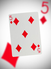 Playing card, five
